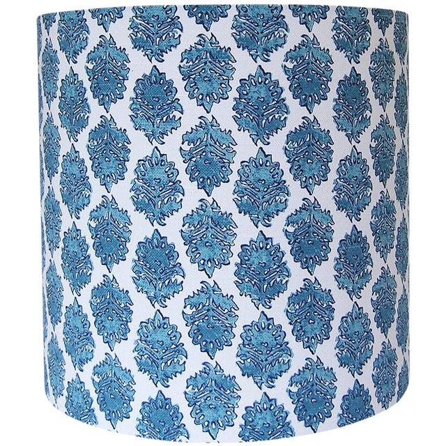 Block Print Drum Lamp Shade - Image 1 of 3