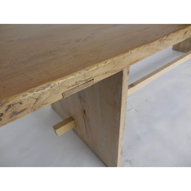 Wood Long Elm Dining Table For Sale - Image 7 of 7