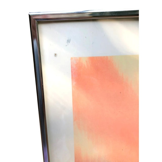 1960s Vintage Dom Mingolla Hand Signed & Framed Abstract Watercolor Painting For Sale - Image 4 of 6