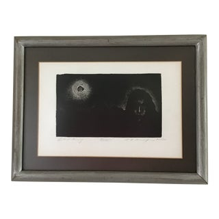 """Framed Stephen Raul Anaya, American (1946-) """"Bruja"""" Etching Pencil Signed, 1973 For Sale"""
