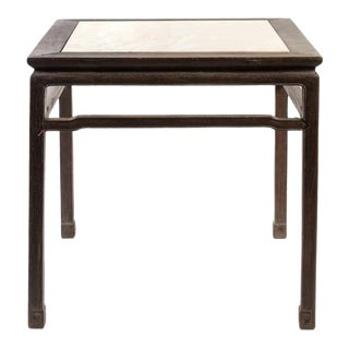 18th Century Chinese Mahjong Game Table With Marble Top For Sale
