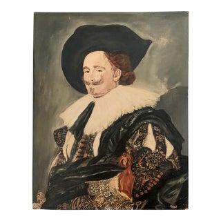 Vintage European Portraiture Oil on Canvas Painting For Sale