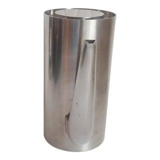 Arne Jacobsen Stelton Cylinda Coffee Pot Stainless Steel Vintage Coffee For Sale