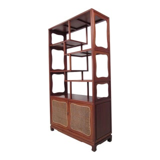 Mid Century Modern Asian Influenced Etagere Display Shelf For Sale