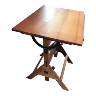 Vintage Mid-Century Wood Drafting Table