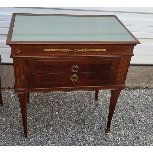 1950's Italian Mid-Century Modern Burled & Matched Paolo Buffa Manner Nightstand or End Table - a Pair For Sale - Image 9 of 12