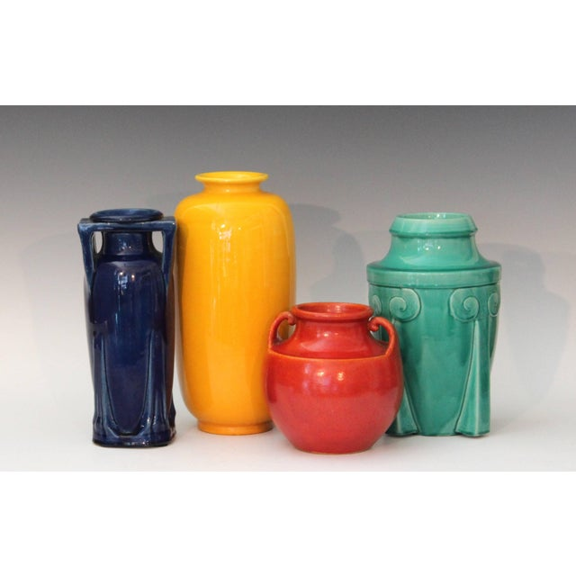 Awaji Pottery Japanese Art Deco Rocket Form Vase For Sale - Image 10 of 11
