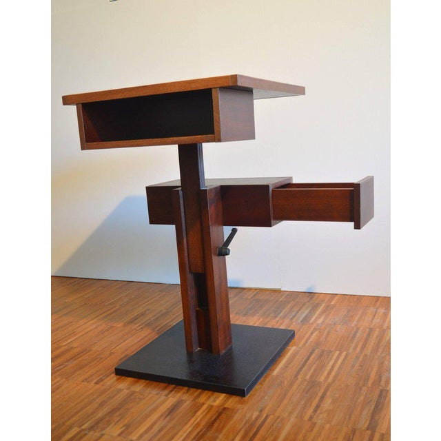 Nightstand Side Table by Bernard Vuarnesson for Sculptures-Jeux in Paris, 1980 For Sale - Image 4 of 8