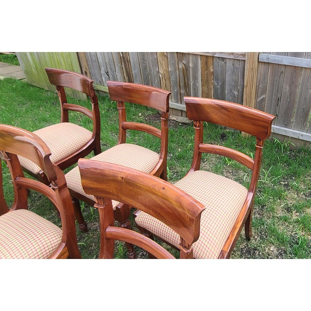 20th Century Reproduction Mahogany Empire Style Dining Room Chairs - Set of 6 For Sale In New York - Image 6 of 13