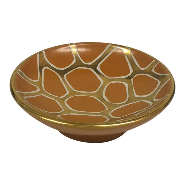 Contemporary Giraffe Pattern Bowl For Sale