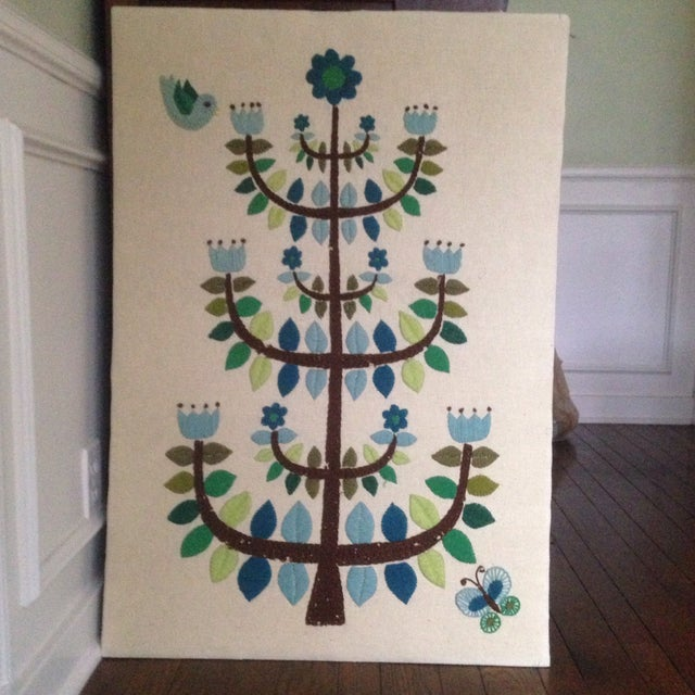 Vintage Tree of Life Textile Wall Art - Image 3 of 11