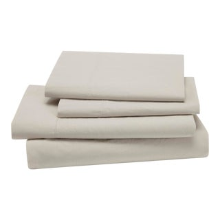 Lorimer Bedding King Pillowcase in Oatmeal - a Pair For Sale
