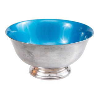 Reed & Barton Blue Enameled Silver Revere Bowl For Sale