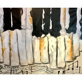 Image of Abstract Painting, Black Keys For Sale