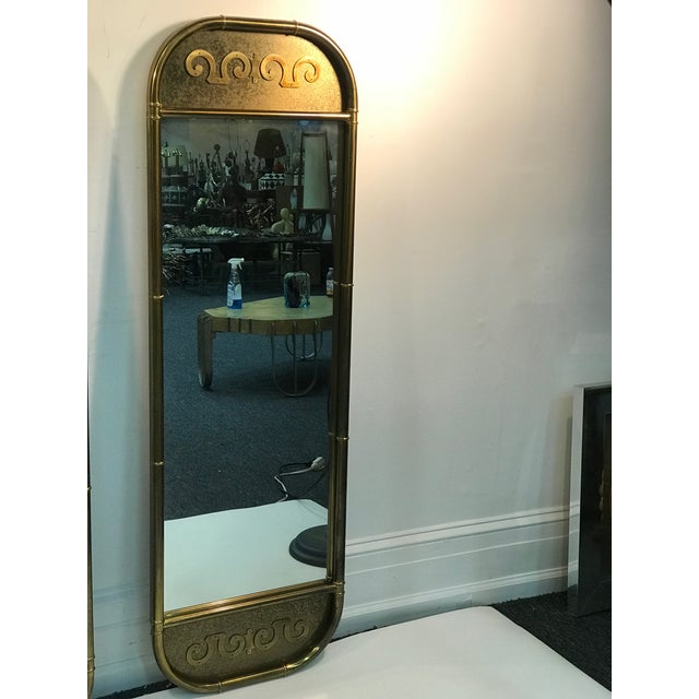 Modern 1970s Mastercraft Exceptional Brass Mirrors - a Pair For Sale - Image 3 of 6