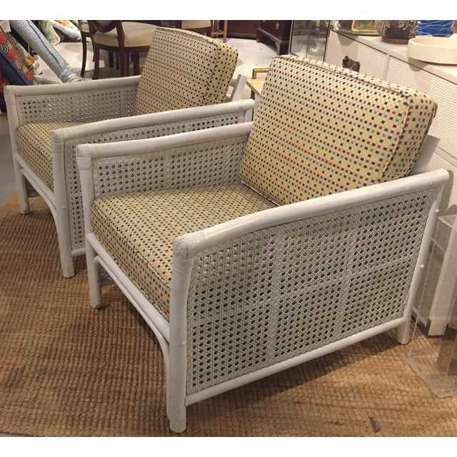 Ficks Reed Mid Century Bamboo & Caned Lounge Chairs - a Pair - Image 3 of 9