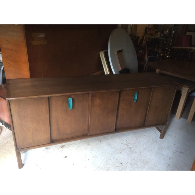 Ray Sabota for John Stuart Curved Credenza With Optional Travertine Stone Top For Sale - Image 11 of 11