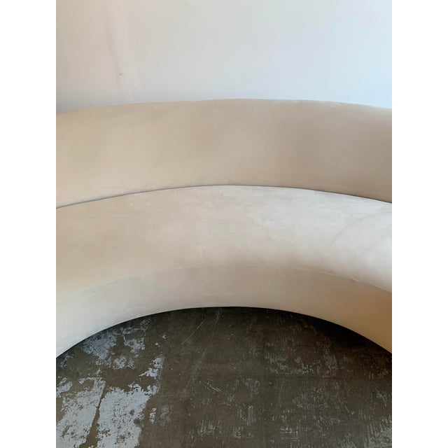Off-white Mid Century Style Cloud Sofa For Sale - Image 8 of 13
