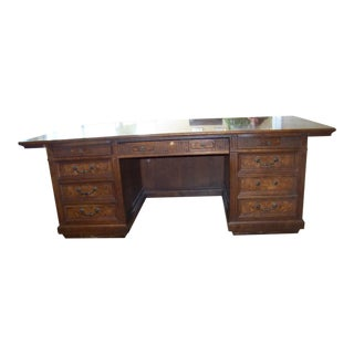 1970s Traditional Jasper Executive Desk For Sale