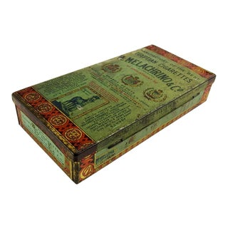 Antique Melachrino Egyptian Cigarette Tin For Sale