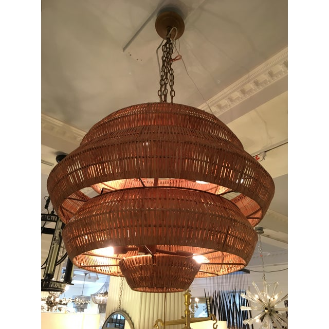 New currey company antibes rattan chandelier chairish currey company antibes rattan chandelier image 3 aloadofball Image collections