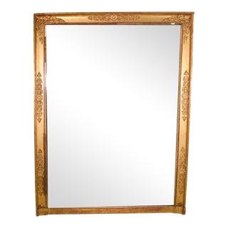 19th Century Empire Gilt Wall Mirror