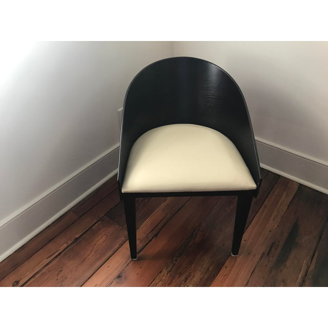 Contemporary Black Mahogany Oval Dining Set - Image 4 of 6