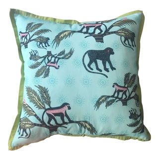 """Handmade """"Monkey Palm Oasis"""" South African Pillow For Sale"""
