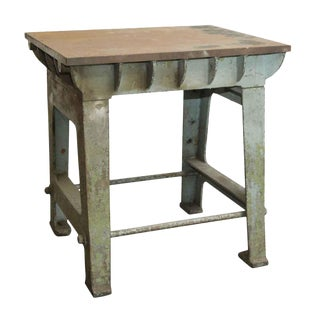 Late 20th Century Vintage Cast Iron Industrial Table Base For Sale