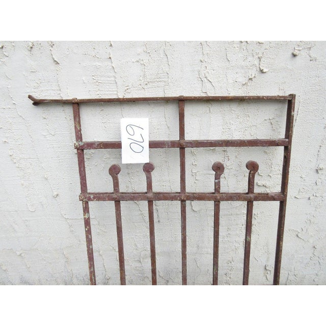 Antique Victorian Iron Gate Architectural Salvage Door For Sale - Image 4 of 5