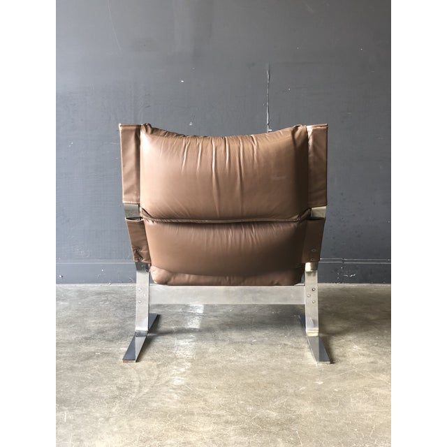 1970s Westnofa Siesta Leather Chair & Ottoman For Sale - Image 5 of 10