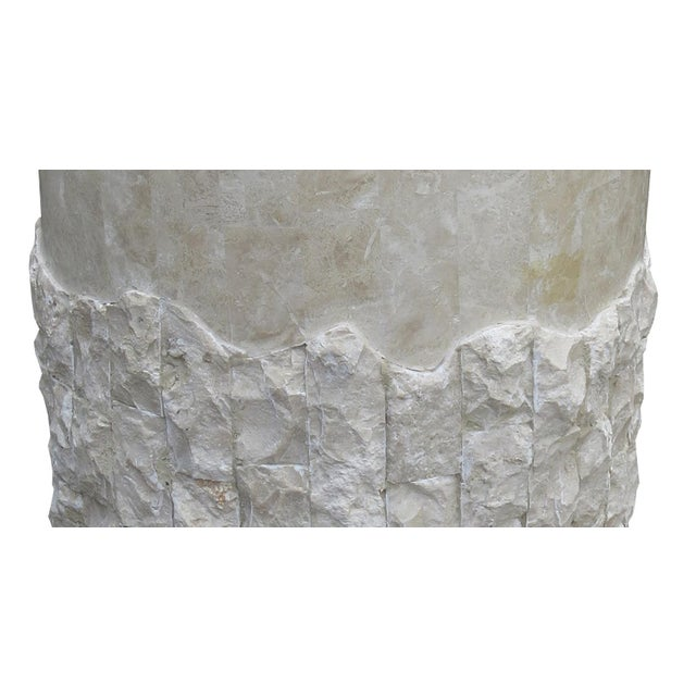 20th Century Vintage Marquis Collection of Beverly Hills Postmodern Tessellated Stone Pedestal / Pedestal Table Base For Sale - Image 10 of 13