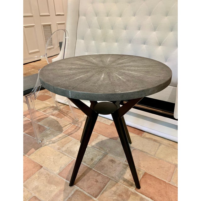 Modern Round Cocktail Table For Sale - Image 3 of 7