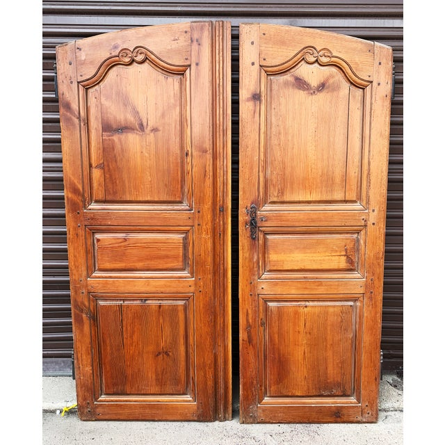 18th C Antique French Walnut Armoire Doors - a Pair For Sale - Image 13 of 13