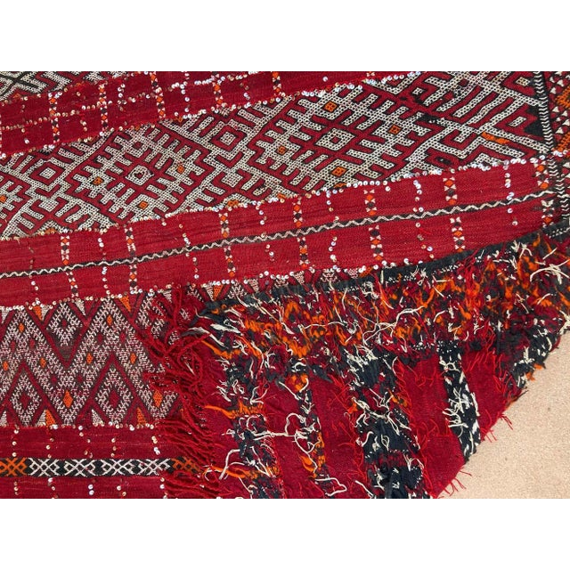 Moroccan Vintage Ethnic Textile with Sequins North Africa, Handira For Sale - Image 12 of 13