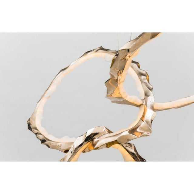 Markus Haase, Bronze and Onyx Circlet Chandelier, Usa, 2018 For Sale - Image 10 of 11
