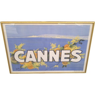 "Vintage ""Cannes"" Print For Sale"