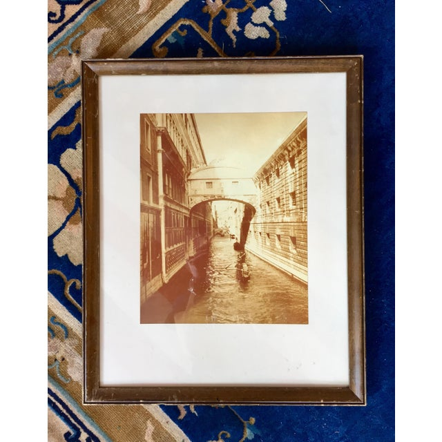 Vintage Sepia Photograph of Venice For Sale - Image 11 of 11