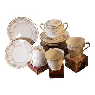 Noritake China Gallery Collection #7246 Ivory - 22 Piece Mixed Lot For Sale