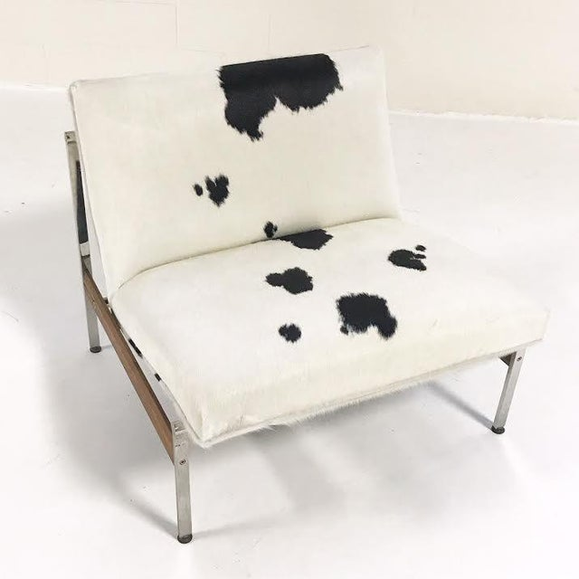 Forsyth One of a Kind Glenn of California Lounge Chair Reupholstered in Brazilian Cowhide For Sale In Saint Louis - Image 6 of 7