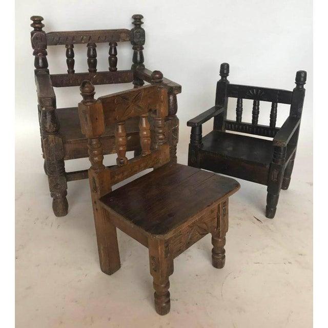 Antique Guatemalan Children's Chairs - Image 2 ... - Incredible Antique Guatemalan Children's Chairs DECASO