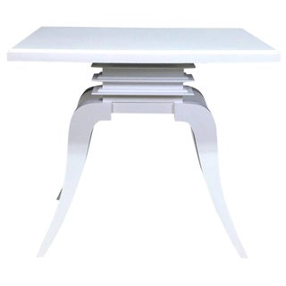 "Art Deco White Lacquered ""Bell"" Table by Paul Frankl For Sale"