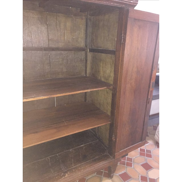 Dutch Colonial Style Armoire For Sale - Image 7 of 7