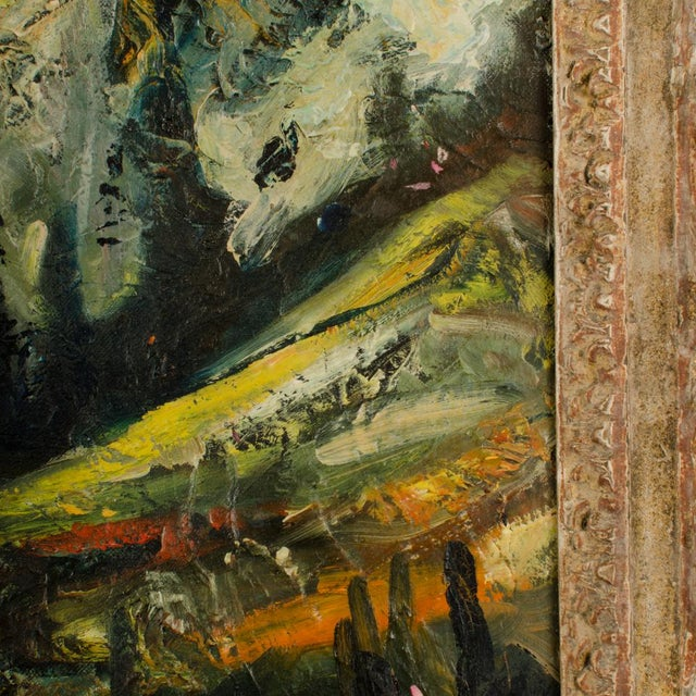 """Mid 20th Century """"Sunday Stroll Home"""" Landscape Oil Painting, Framed For Sale - Image 9 of 13"""