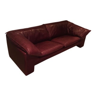 Vintage Neils Eilersen Burgundy Leather Arizona Sofa