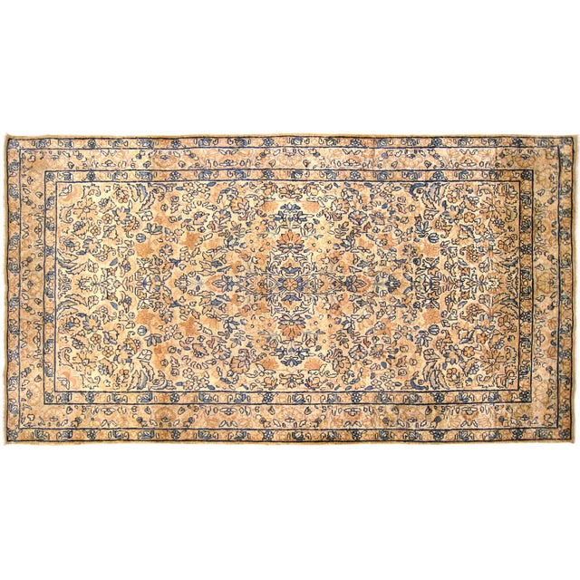 1910s Early 20th Century Antique Persian Kerman Oriental Rug - 3′ × 5′3″ For Sale - Image 5 of 5