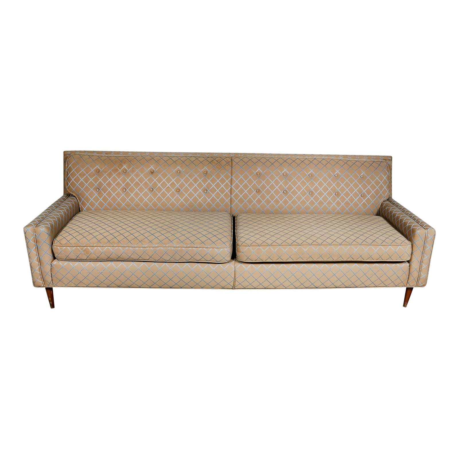 Vintage Mid Century Modern Low Back Couch Sofa | Chairish