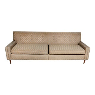 Vintage Mid Century Modern Low Back Couch Sofa For Sale