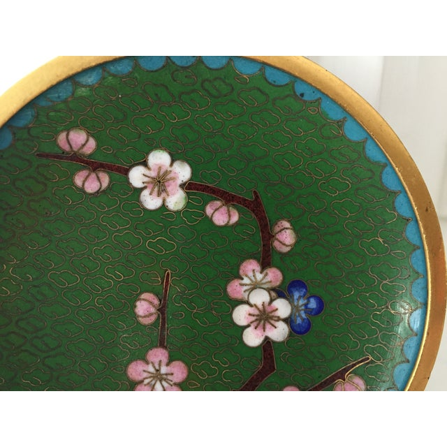 Small Green Cloisonne Dish - Image 3 of 6
