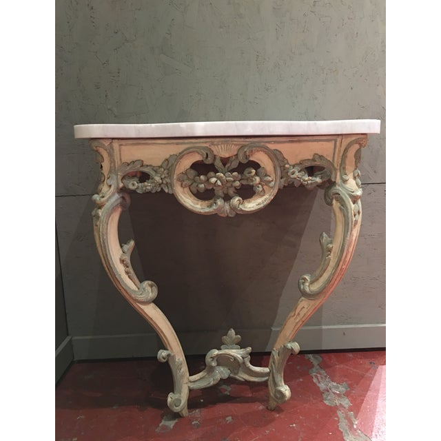 French Louis XV Period Painted Console Table | Chairish